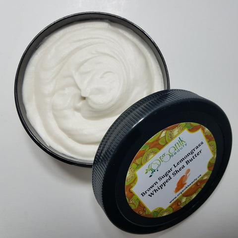 Brown Sugar and Lemongrass Whipped Shea Body Butter - Organik Beauty
