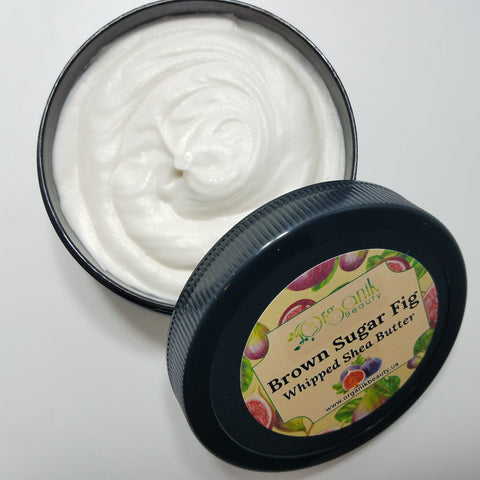 Brown Sugar and Fig Whipped Shea Body Butter - Organik Beauty