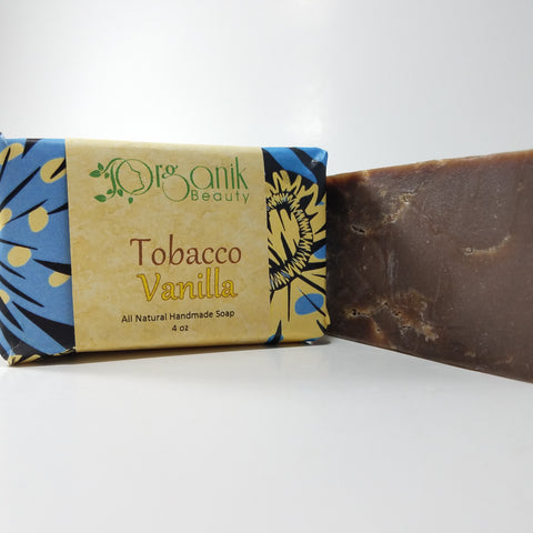 Tobacco and Vanilla - All Natural Handmade Soap 5 oz - Organik Beauty