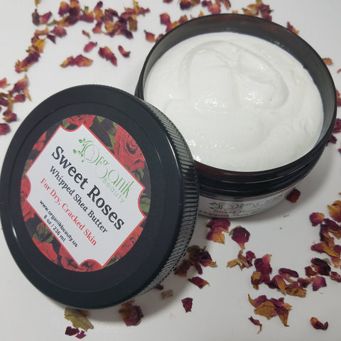 Sweet Roses Whipped Shea Body Butter - Organik Beauty