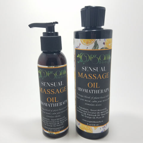 Organik Beauty Sensual Massage Oil For Men, Women and Couples