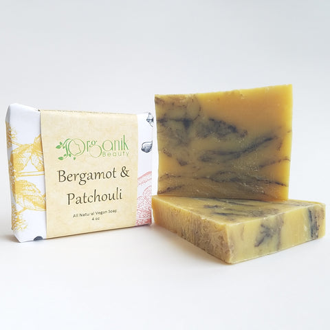 Bergamot and Patchouli All Natural Vegan Soap 5 oz - Organik Beauty