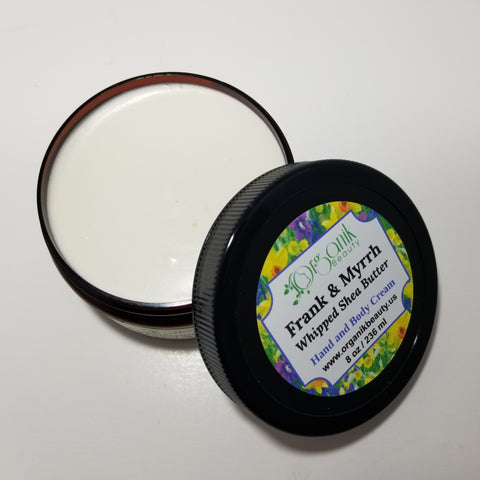 Frankincense and Myrrh Whipped Shea Body Butter - Organik Beauty