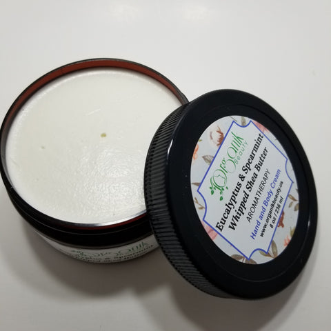 Eucalyptus and Spearmint Whipped Shea Body Butter - Organik Beauty