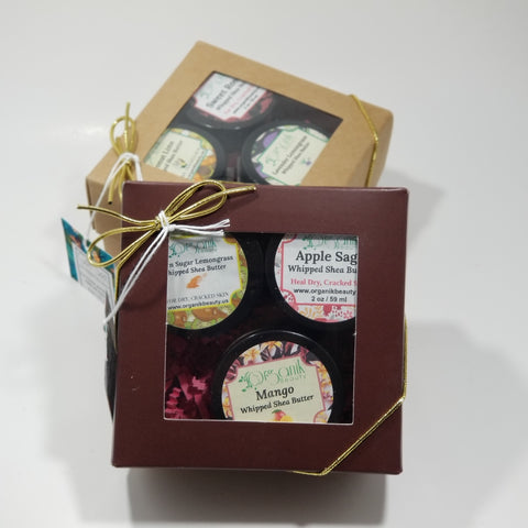 Whipped Shea Butter Trio Gift Set 6 oz - Organik Beauty