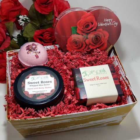 Organik Beauty - Sweet Roses Body Gift Set