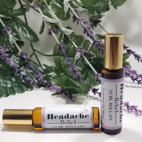 Headache Relief Roll-On Essential Oil 10 ml - Organik Beauty