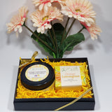 Whipped Shea Body Butter and Handmade Soap Gift Set - Orange and Lemongrass by Organik Beauty
