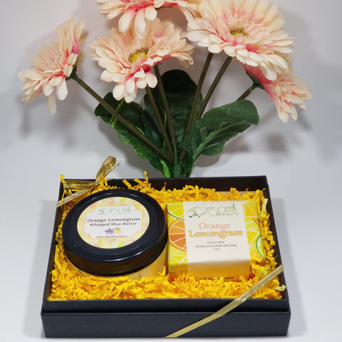 Orange and Lemongrass Body Essentials Gift Set Small - Organik Beauty