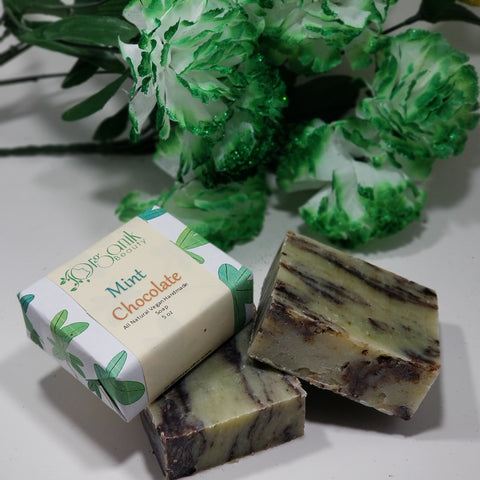 Mint Chocolate All Natural Vegan Handmade Soap 5 oz - Organik Beauty