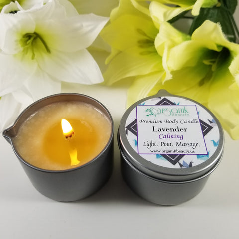 Premium Body Candle for a Warm Oil Masssge by Organik Beauty