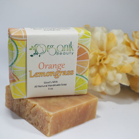 Orange and Lemongrass All Natural Goat's Milk Handmade Soap 5 oz by Organik Beauty