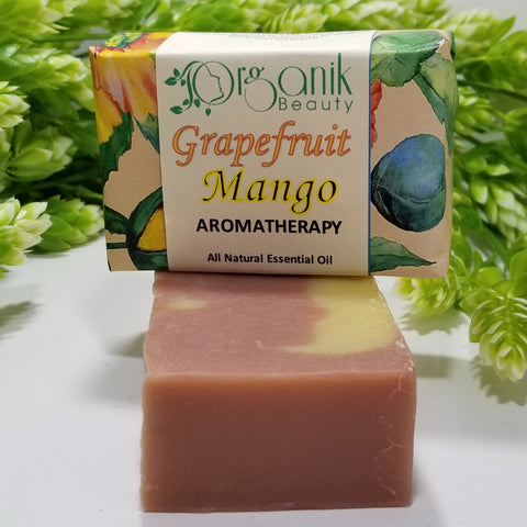Grapefruit and Mango All Natural Essential Oil Soap 5 oz by Organik Beauty