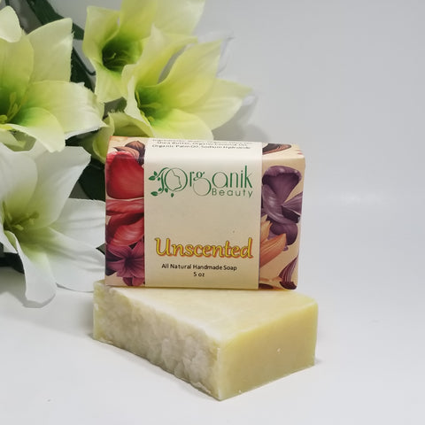 Unscented All Natural Vegan Soap 5 oz by Organik Beauty