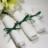 "100% Organic Cotton Hand Crocheted Washcloths 9"" - Organik Beauty"
