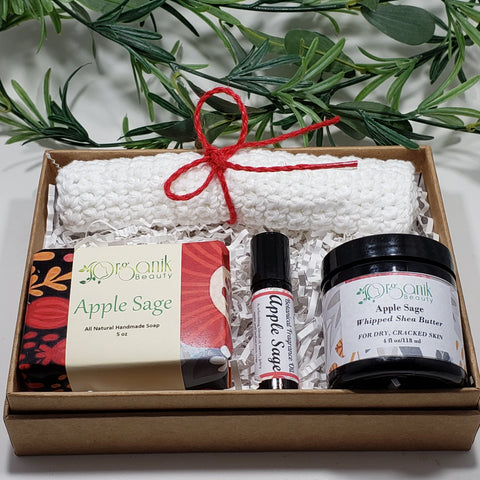 Apple Sage Body Essentials Gift Set - Medium - Organik Beauty