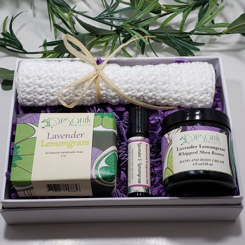 Lavender and Lemongrass Body Essentials Gift Set - Medium - Organik Beauty
