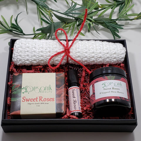 Sweet Roses Body Essentials Gift Set - Medium - Organik Beauty