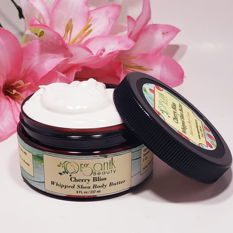 Cherry Bliss Whipped Shea Body Butter by Organik Beauty