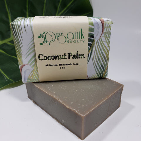Coconut Palm All Natural Handmade Soap 5 oz - Organik Beauty