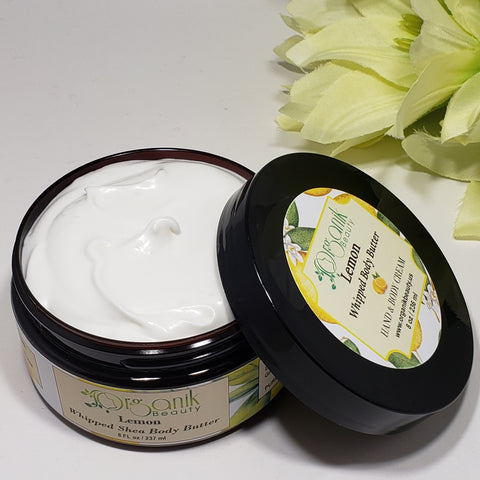 Lemon Whipped Shea Body Butter - Organik Beauty