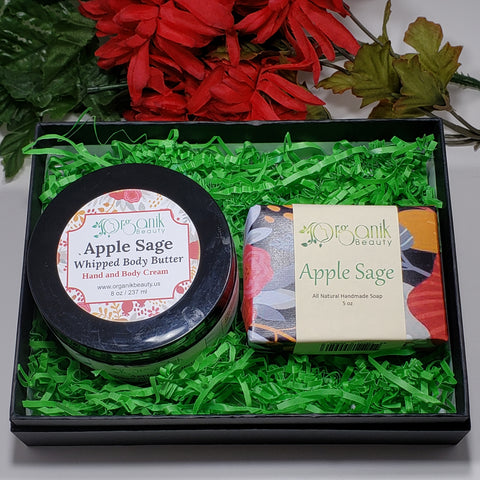 Apple Sage Body Essentials Gift Set Small by Organik Beauty