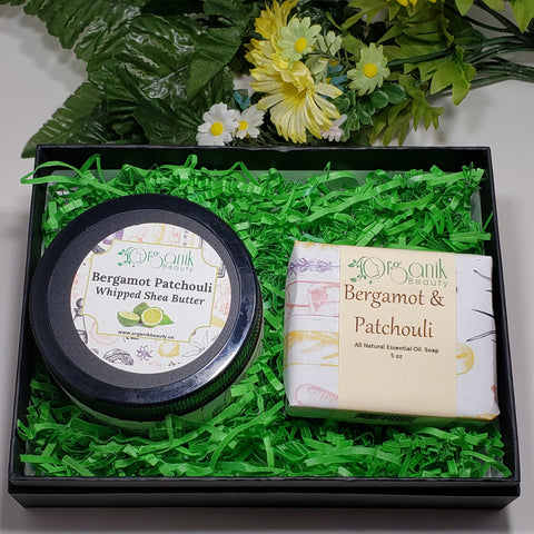 Bergamot and Patchouli Body Essentials Gift Set by Organik Beauty