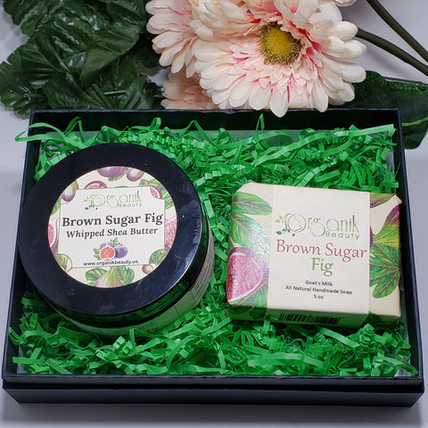 Brown Sugar Fig Body Essentials Gift Set Small by Organik Beauty