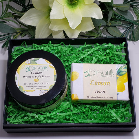 Lemon Body Essentials Gift Set Small by Organik Beauty