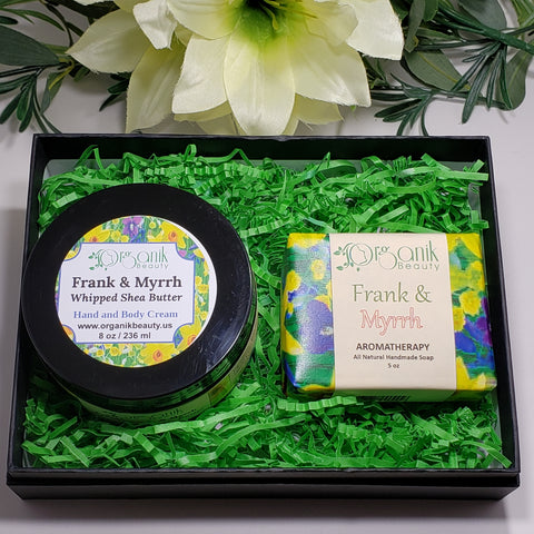 Frankincense and Myrrh Body Essential Gift Set Small by Organik Beauty