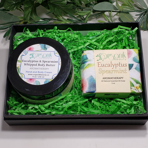 Eucalyptus and Spearmint Body Essentials Gift Set Small - Organik Beauty