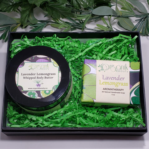 Lavender and Lemongrass Body Essentials Gift Set Small - Organik Beauty