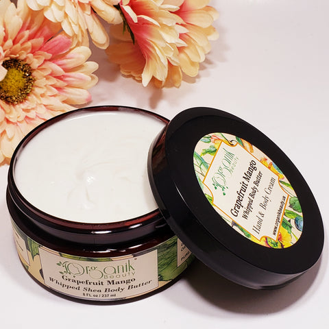 Grapefruit Mango Whipped Shea Body Butter - Organik Beauty