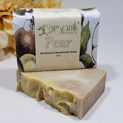 Pear - All Natural Handmade Soap 5 oz - Organik Beauty
