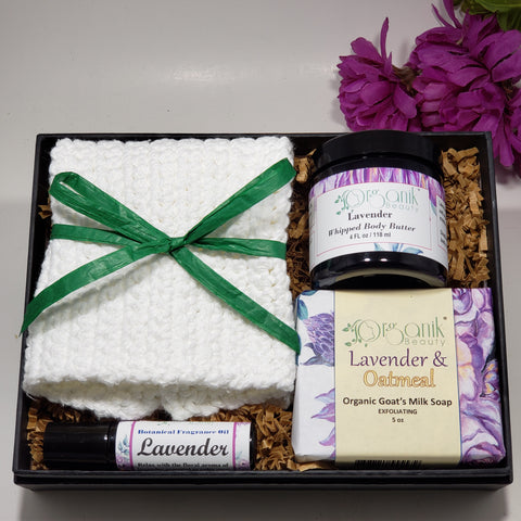 Lavender Body Essentials Gift Set - Medium - Organik Beauty