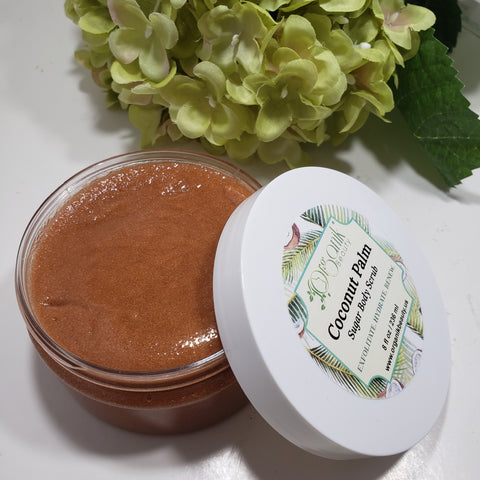 Coconut Palm Whipped Sugar Body Scrub - Organik Beauty