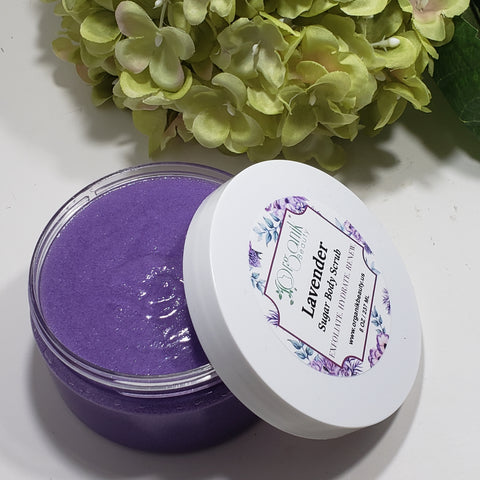 Lavender Whipped Sugar Body Scrub 8 oz - Organik Beauty