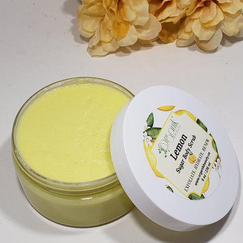 Lemon Whipped Sugar Body Scrub 8 oz - Organik Beauty