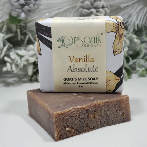 Vanilla Absolute Goat's Milk Soap 5 oz - Organik Beauty