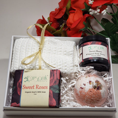 Sweet Roses Bath Gift Set - Organik Beauty