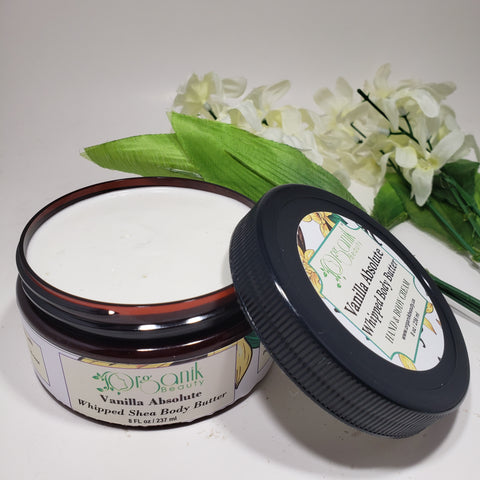 Vanilla Absolute Whipped Shea Body Butter - Organik Beauty