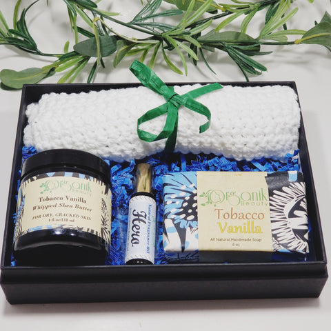 Tobacco and Vanilla Body Essentials Gift Set - Medium - Organik Beauty