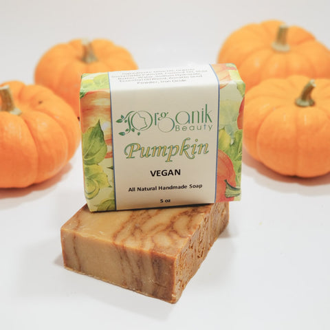Pumpkin All Natural Vegan Soap 5 oz by Organik Beauty