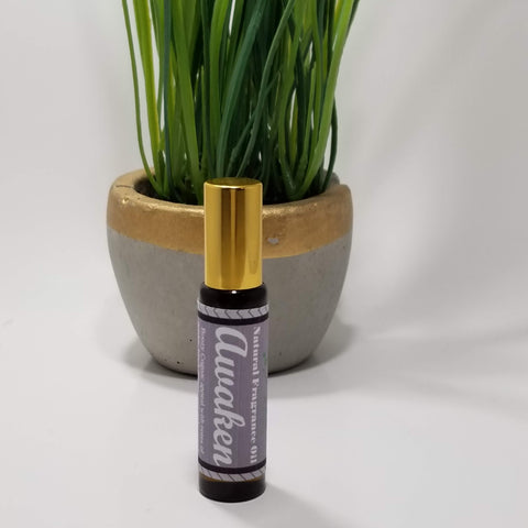 Awaken Botanical Fragrance Roll-On Body Oil 10 ml - Organik Beauty