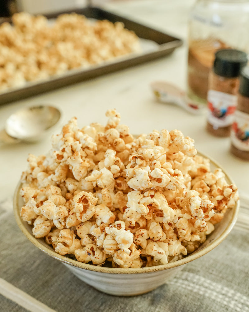 Maple Smoked Honey Crunch Popcorn
