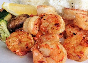 Lemon Ginger Shrimp with Coffee Rub