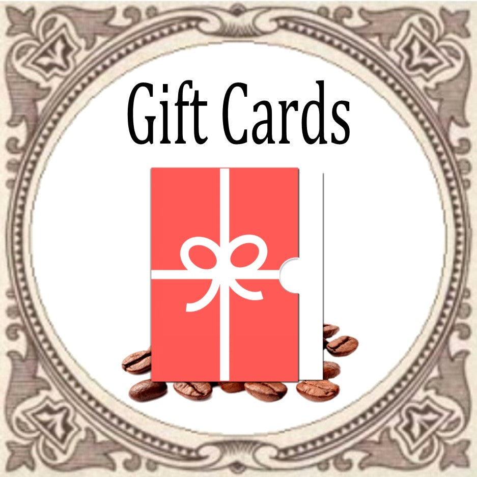 COFFEE GIFT CARDS