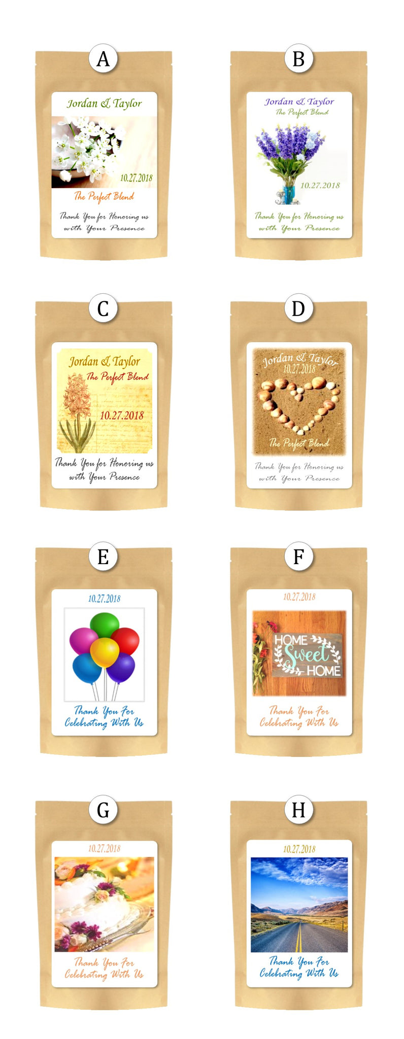 Coffee Wedding Favors & Coffee Party Favors - Brown & Jenkins - The ...