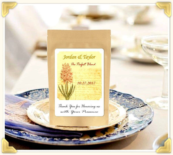 Coffee Wedding Favors at Brown & Jenkins Coffee Roasters of Vermont