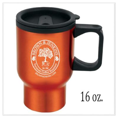 Personalized 16 oz. Travel Coffee Mug - Brown & Jenkins Coffee Roasters of Vermont
